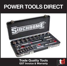 New Sidchrome SCMT19751 Socket Set 39 Piece 1/4 & 1/2in Drive Metric/AF #19751