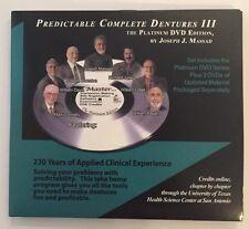 Joe Massad Predictable Complete Dentures III The Platinum DVD +$129 Establisher