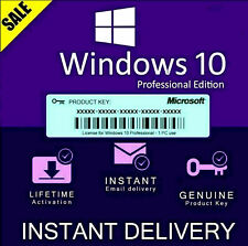 MICROSOFT WINDOWS 10 PROFESSIONAL PRO 32 | 64 BIT GENUINE ACTIVATION KEY LICENSE