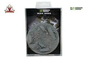 Gamers Grass Rocky Fields Resin Bases Round 100mm (x1) New
