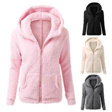 UK Womens Ladies  Hoodie Fleece Sweatshirt Hooded Coat Hoodys Zip Jacket Parka