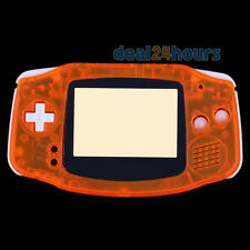 Transparent Orange Housing Shell Case Cover for Nintendo Gameboy Advance GBA