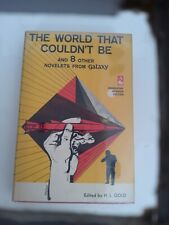 Signed by H.L.Gold Association & Review Copy 1st Ed The World That Couldn'T Be