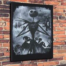 "Jack Skellington A Nightmare Before Xmas Printed Canvas A1.30""x20""30mm Deep V6"