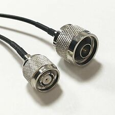 N type male to RP TNC male pigtail cable RG174 20cm for wifi router antenna Goo