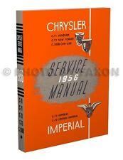 1956 Chrysler Shop Manual Imperial 300B Newport Windsor New Yorker Service