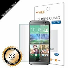 HTC ONE M8 Screen Protector 3x Anti-Scratch HD Clear Shield Guard Cover Film