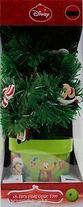 Disney 18 inch Mickey Mouse Fiber Optic Christmas Tree Color Changing Tips NIB