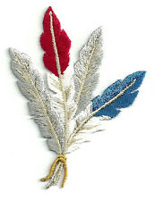 Feather - Southwestern Feathers - Embroidered Iron On Applique Patch