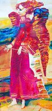 "Angel of Harmony / Original Oil Painting by Sergej Hahonin / 25x12cm / 9.8""x4.7"""