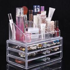 Acrylic Desk Makeup Organizer Storage Drawer Sorting Box Case fr Makeup Cosmetic