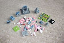 Lego Architecture Blocks Loose Green Pink Blue Gray White Red