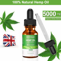 30ML Organic Herbal 5000mg Hemp Extract Oil Drops For Pain Relief Sleep Helpful