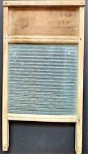 National Washboard Co. Atlantic No.510 Original GLASS Wood VINTAGE Original