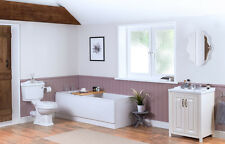 Traditional Bathroom Suite with WC Toilet + Freestanding Vanity Unit + Basin