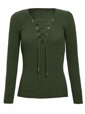 Cotton Machine Washable V-Neck Jumpers & Cardigans for Women