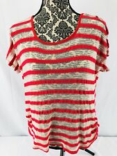 Ember Women's Striped Large Short Sleeve Top