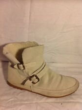 Top Shop Beige Ankle Suede Boots Size 7