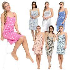 LADIES PRINTED COTTON JERSEY CHEMISE NIGHT DRESS NIGHTIE SIZES 8-22