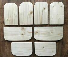 8 x KILN PINE WOOD SHELF/LEDGE/CORNER 4 CAGE CHINCHILLA,DEGU,RAT,HAMSTER,BIRD