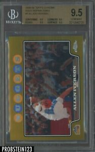 2008-09 Topps Chrome #3 Allen Iverson Gold Refractor 01/50 BGS 9.5 Gold Label