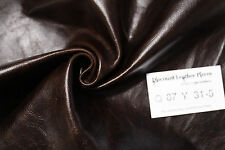 """Smooth Operator Brown"" Leather Cowhide Remnant - Appx 2 sqft Q87Y31-5"