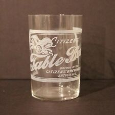 Citizens Table Beer Etched Glass - Antigo Wi