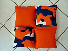 Quality Cornhole Bags corn hole Limited Edition: Camouflage Camo/Orange Set of 8