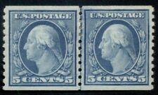 US #496, 5¢ blue, Joint Line Pair, og, LH, XF, Scott $30.00