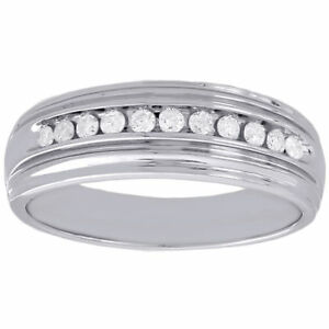 New Year Special 1.30 Ct Round Diamond Channel Set Wedding Band Men's Ring