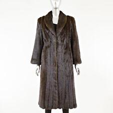 Mahogany Mink Fur Coat 7/8 - Size S 12