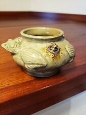 Great old chinese or japanese glazed pottery water dropper