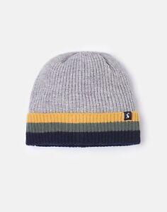Joules Boys Millway Ribbed Knit Hat - Grey Marl - 3Y-7Y
