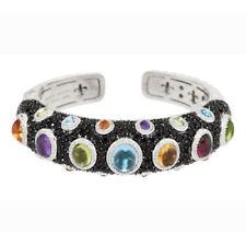 QVC Judith Ripka Sterling 10.80 cttw Multi-Gemstone Hinged Cuff Bracelet $2044