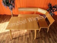 Nr.738b Eckbank Einrichtung Tisch Bank Buche Holz ausziehbar