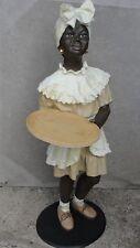 Black Boy Diener Kellner Butler Statue Afrika Figur Skulptur Mädchen Groß Dek 36