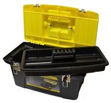 """STANLEY 1-92-906 CASSETTA VALIGIA 48X27X23cm IN ABS PORTAUTENSILI 19"""" TOOL BOX"""