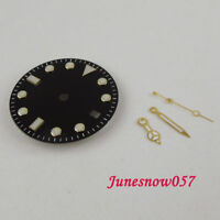 Fit NH35/NH36 Movement Gold Edge 28.5mm Watch Dial+ Gold Coated Watch Hand