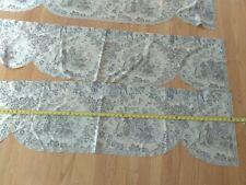 Toile Heritage lace valances blue lot of 3