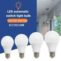 5/7/9/12W E27 Smart Lampe Bewegungsmelder LED Birne Glühbirne Bewegungssenso
