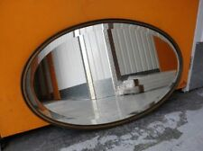 Unbranded Brass Frame Oval Decorative Mirrors