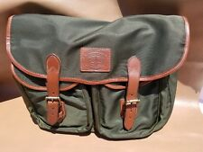984b86ca7937 POLO RALPH LAUREN Olive Leather-Trimmed Canvas Messenger Bag 405516359002