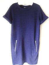 SZ 8 GAP Casual Blue Knit Short Sleeve Knee Dress Cute!