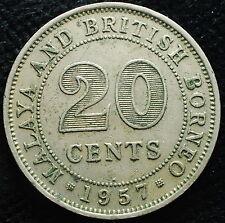 1957   MALAYA & BRITISH BORNEO 1957  20 CENTS