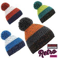 Retro Freestyle Esquí Invierno Pompón Sombrero Gorro de Lana Lanudo Cálido (4 colores) Para Hombre Damas