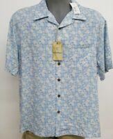 Roundtree Caribbean Blue Hibiscus Pineapple S/S Men's Shirt NWT $79.50 Choose Sz