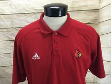 Adidas Louisville Cardinals Mens L Polo Shirt Red SS Climacool