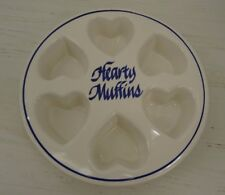Vintage Hearts Muffin Baking Dish Clay Designs Pottery