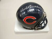 Dick Butkus Autographed Chicago Bears Mini Helmet With HOF Inscription PSA