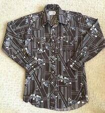 New listing Vtg Men's H Bar C Floral western Long Tail Pearl snap Rockabilly shirt 1970's